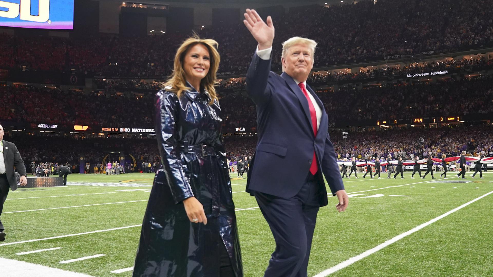 President Trump US Secret Service NOLA LSU vs CLEMSON CFP Championship Game coin