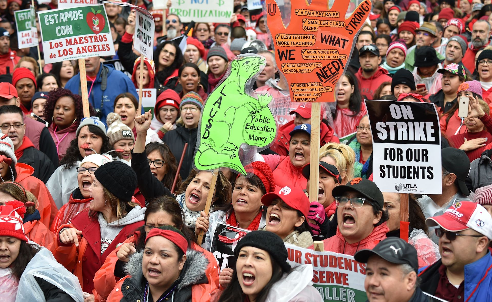 Why the L.A. teachers strike is so uncomfortable for so many Democrats