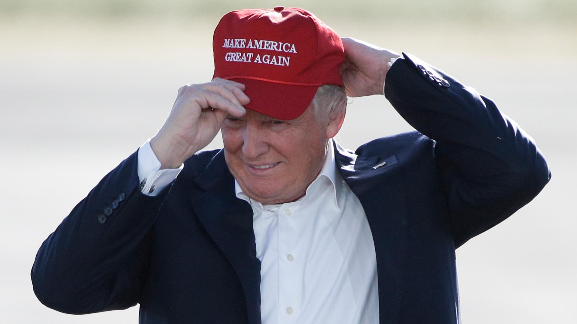 White /& Grey Donald Trump  2020 MAKE AMERICA GREAT AGAIN Election MAGA Cap USA