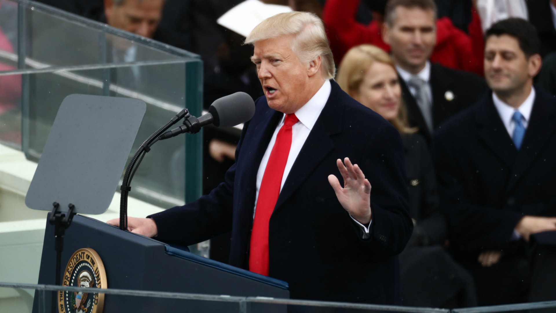 Donald Trump is sworn in as president, vows to end 'American carnage'