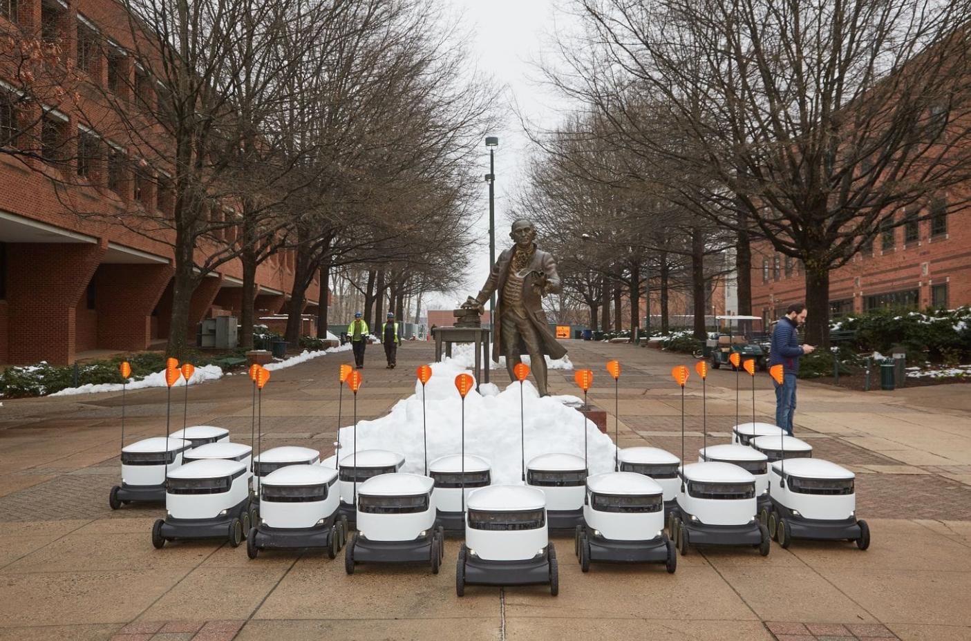 How one university changed overnight when it let 25 semiautonomous robots roam its campus
