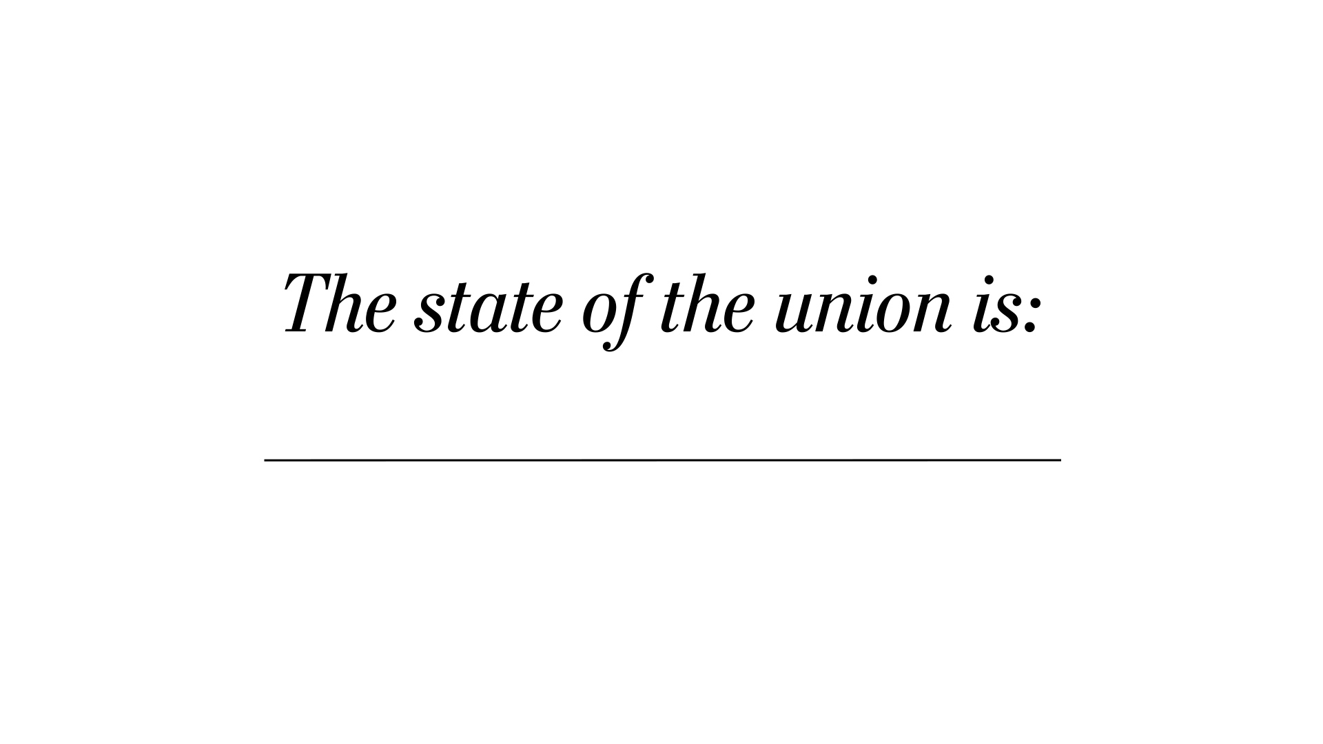 How to name the union