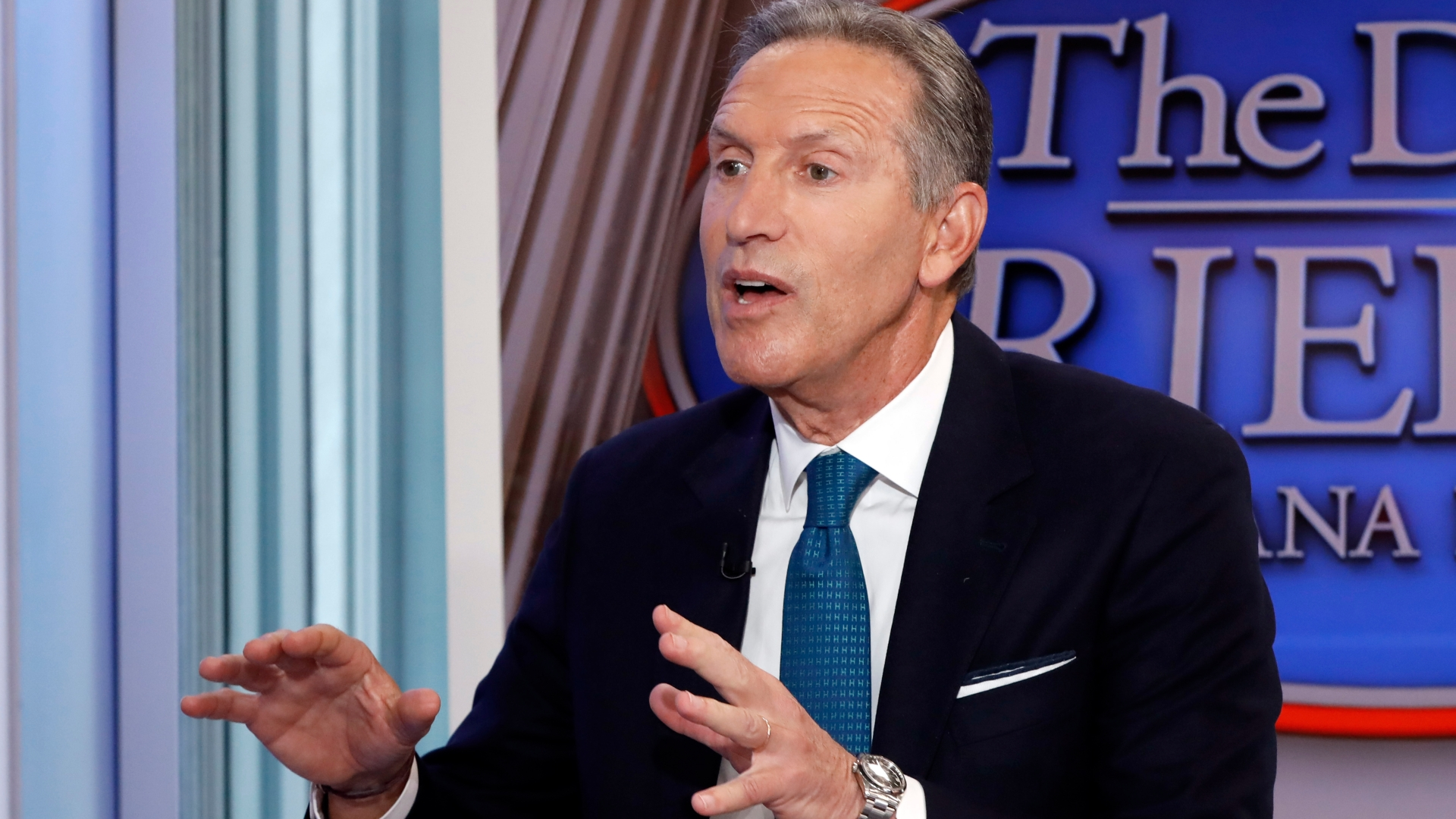 'He's united the country in their universal disdain!': Howard Schultz looks for love in Washington