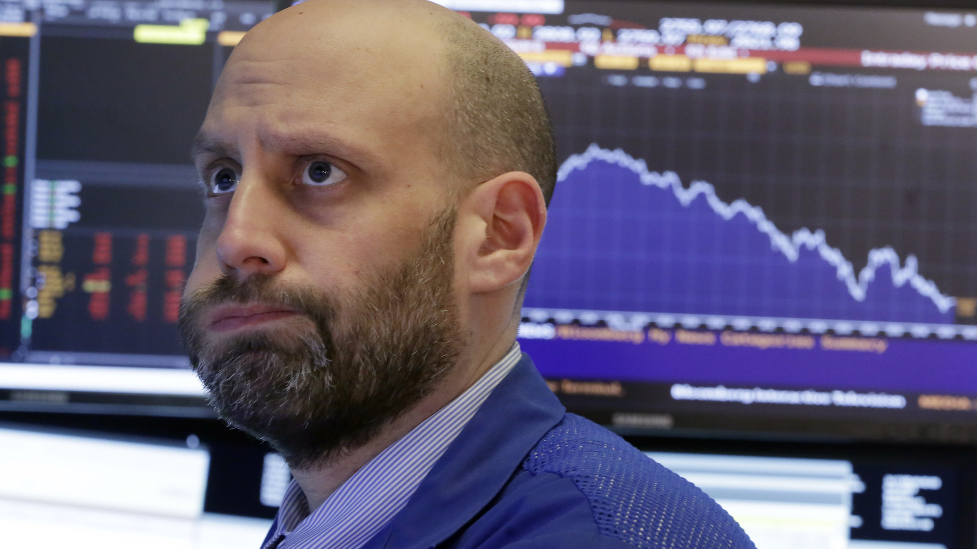 Volatile Dow closes up 567 points after a rocky day of trading following Monday's historic drop
