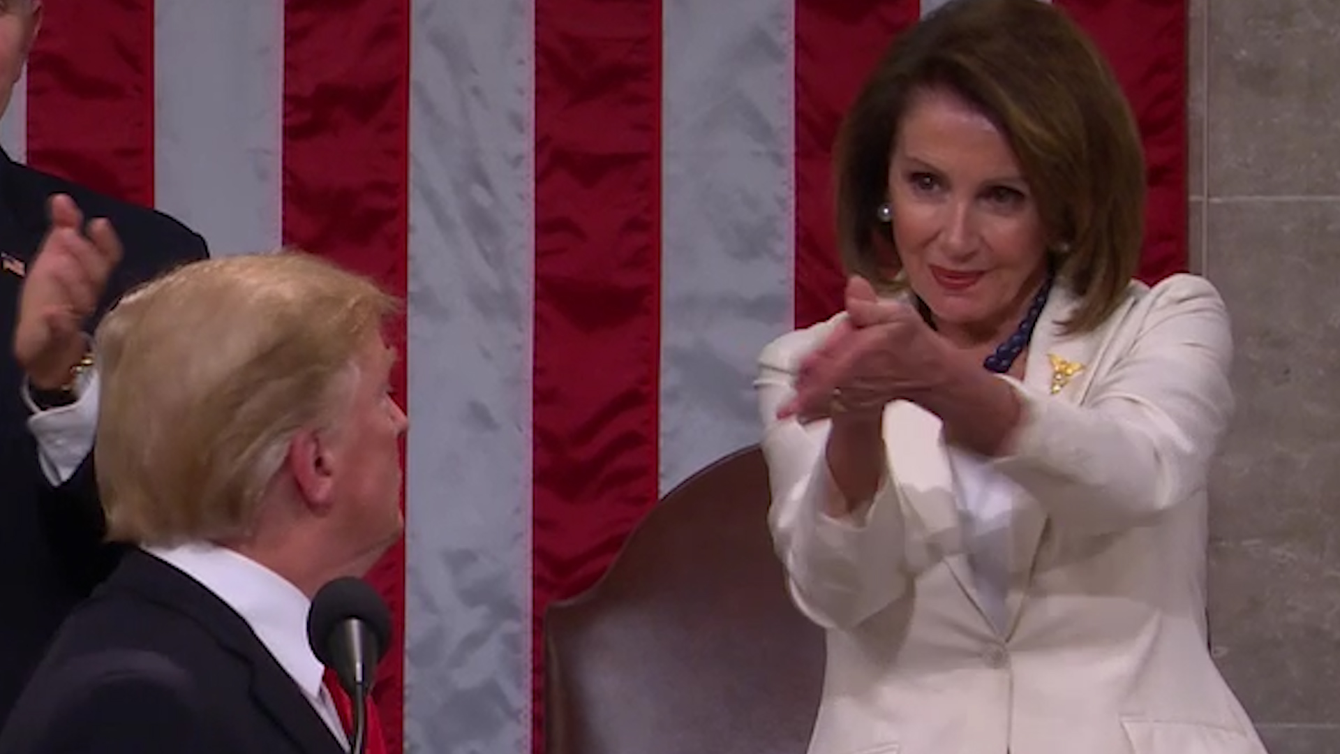 The exquisite shade of Nancy Pelosi's applause at the State of the Union