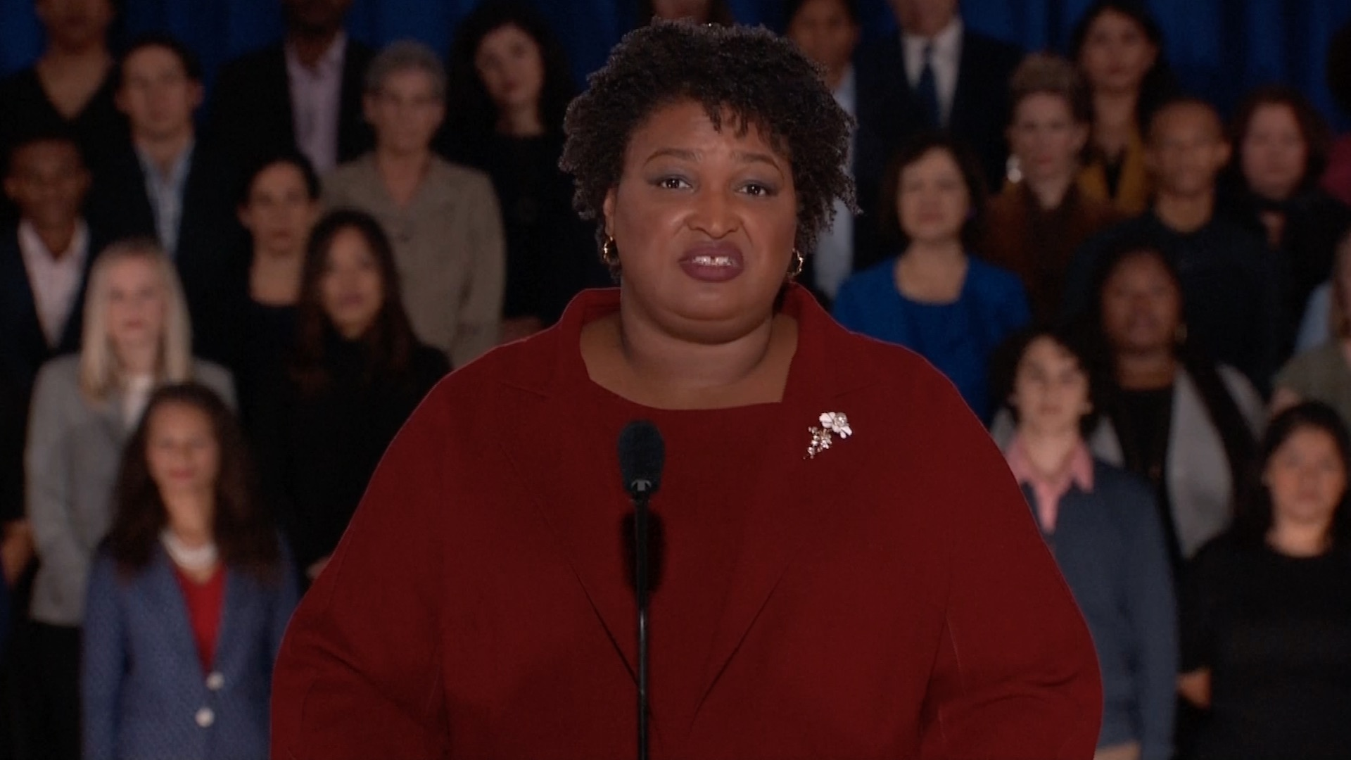 Abrams rebukes Trump for his immigration stance in official Democratic response