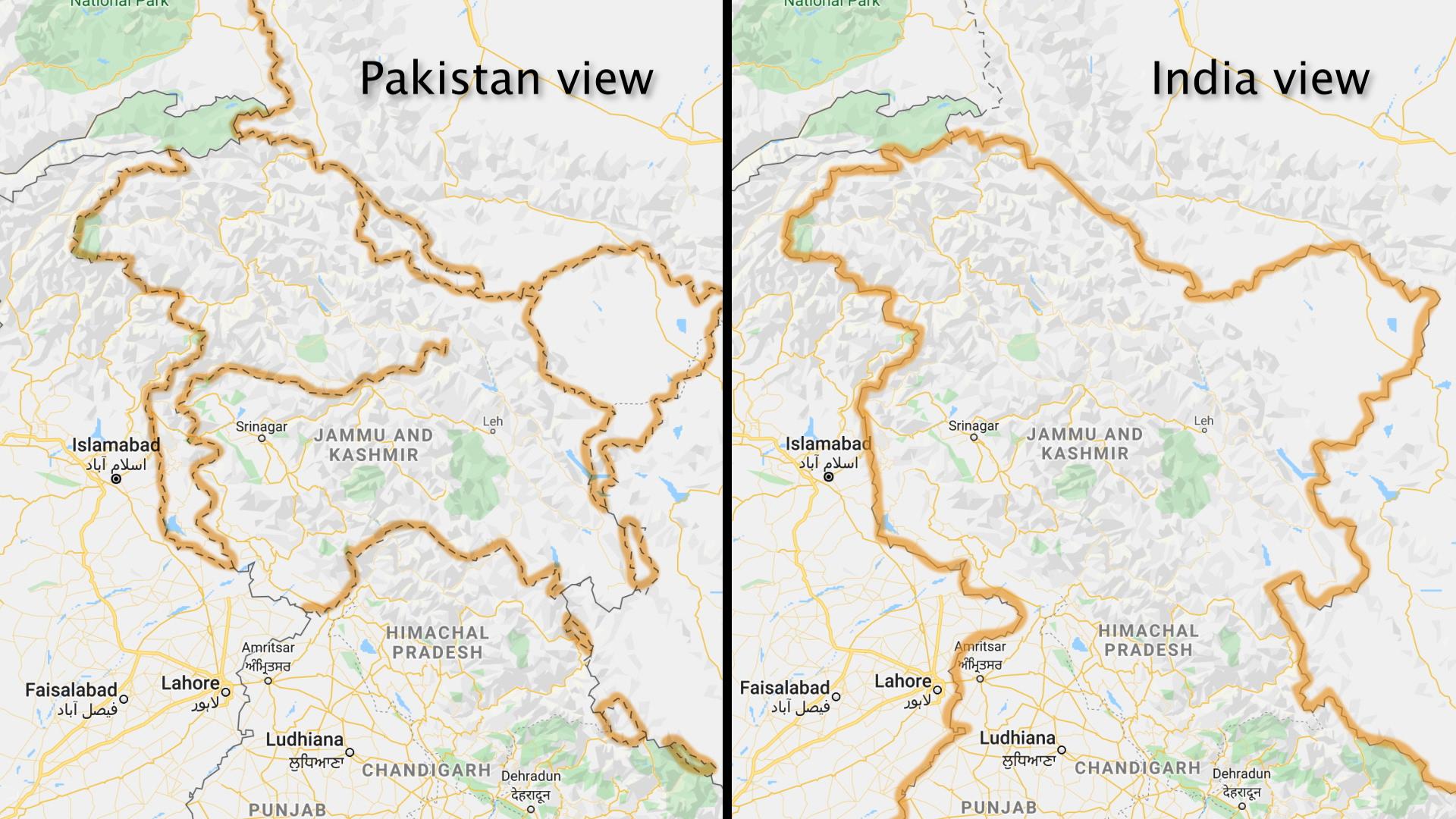 Picture of: Crimea Kashmir Korea Google Redraws Disputed Borders Depending On Who S Looking The Washington Post