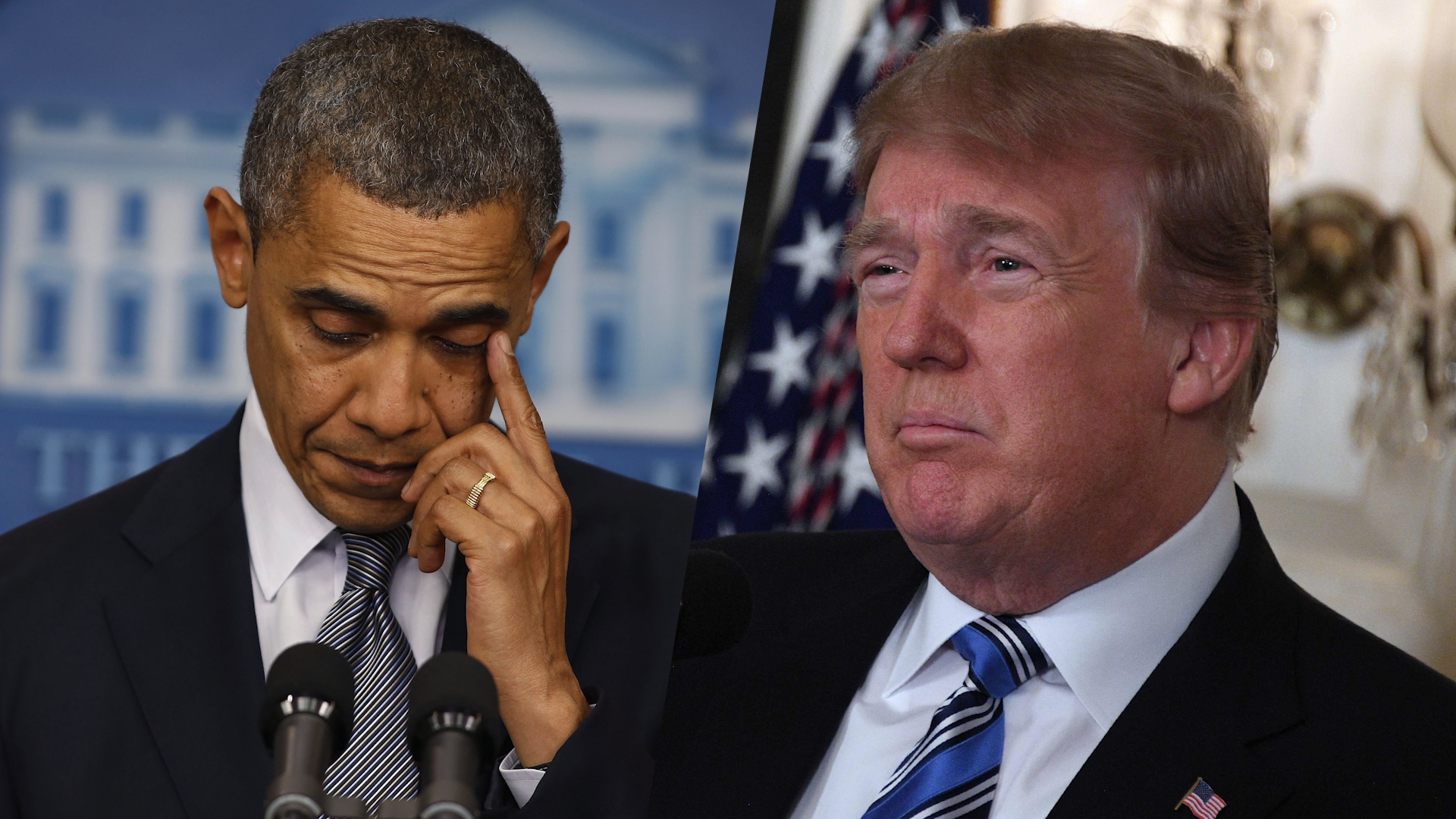 Obama ran out of words on mass shootings. Trump has struggled to find them.