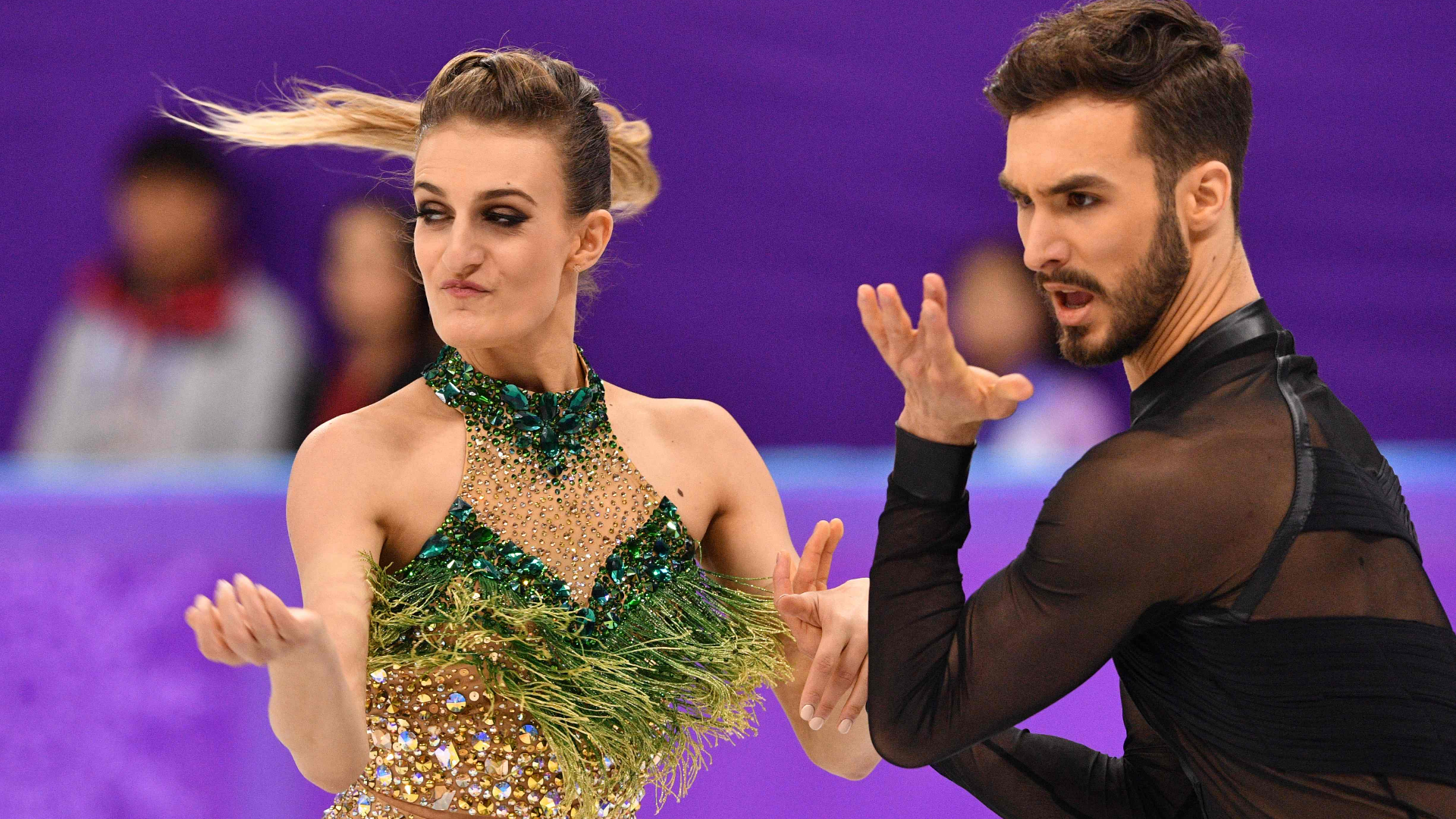French Ice Dancer Suffers Olympic Wardrobe Malfunction