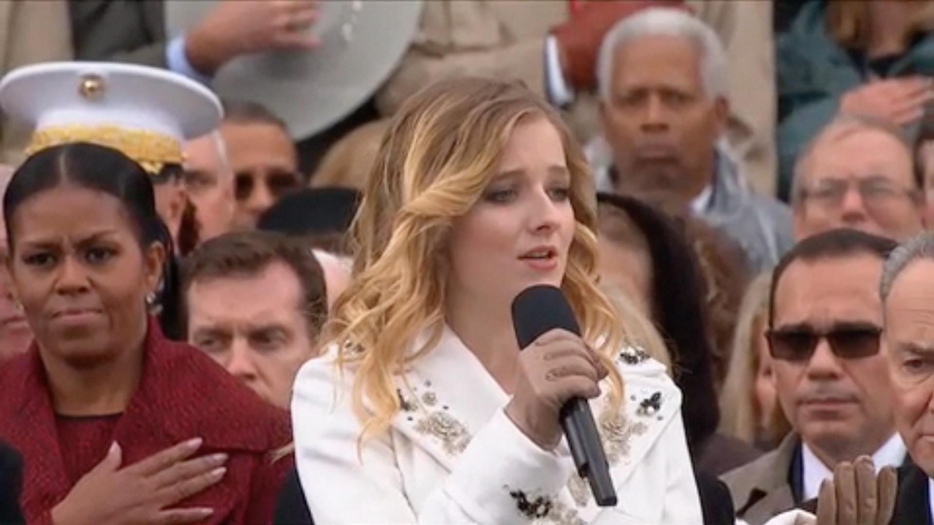 Jackie Evancho, who sang the national anthem at Trump's inauguration, asks for a meeting on transgender rights