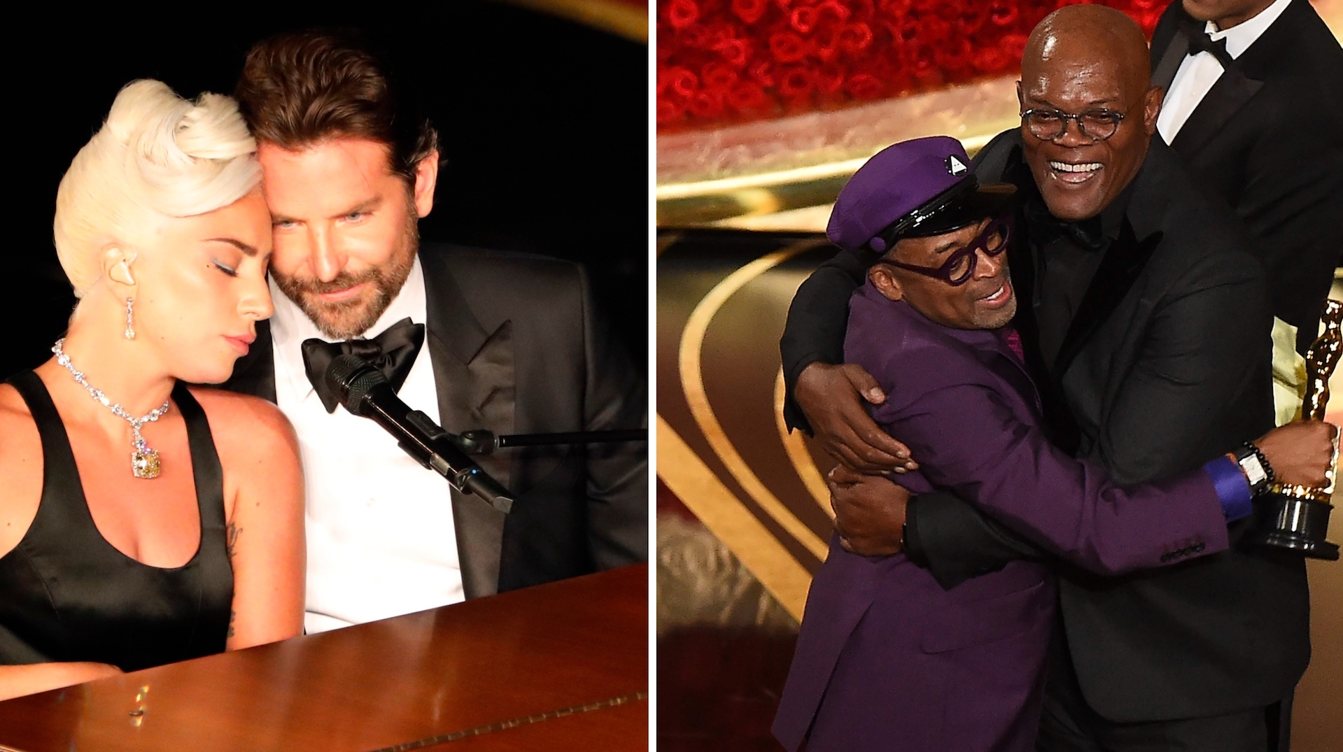 The Lady Gaga and Bradley Cooper 'Shallow' Oscar performance, frame