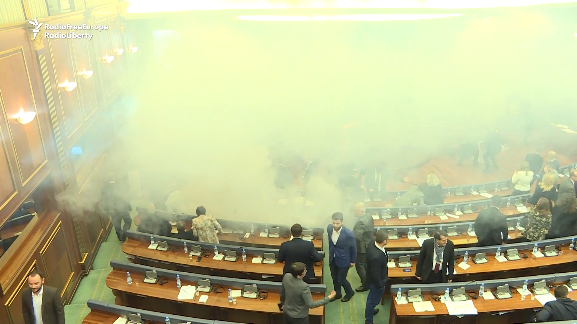 Lawmakers in Kosovo argued over a controversial bill. Then came the tear gas.
