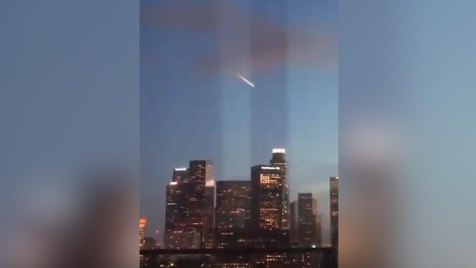 Meteor? Nope. Aliens? Nah. Fiery streak over L.A. was a supermoon marketing stunt.