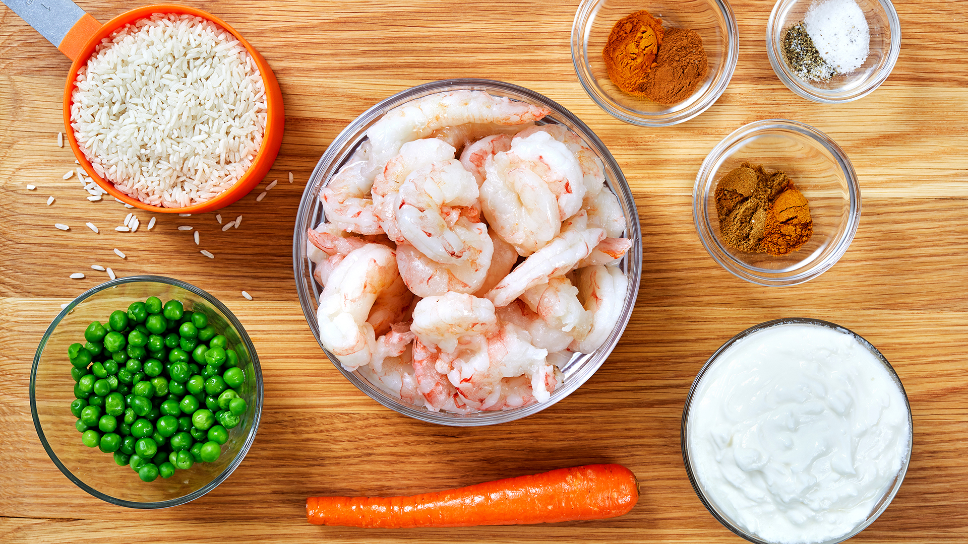 A quick, Tandoori-style meal that doesn't skimp on the shrimp