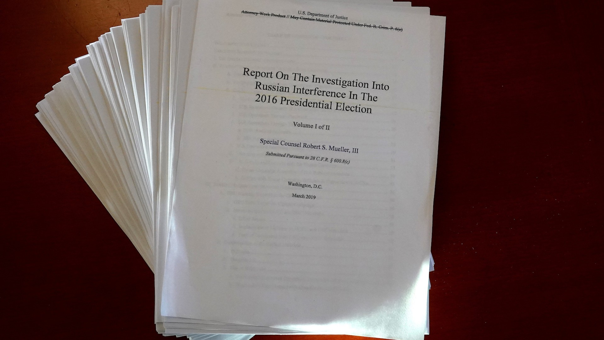 Mueller report findings: Mueller rejects argument that Trump is shielded from obstruction laws