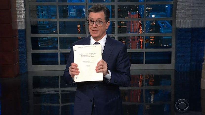 'That's not how an innocent person reacts': Late-night hosts rip Trump, Barr over Mueller report