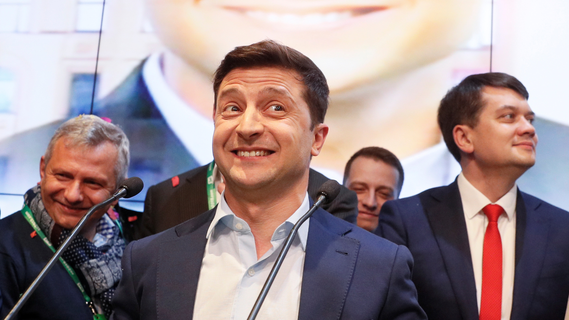 After winning Ukraine's presidency, actor who played the part on TV faces reality