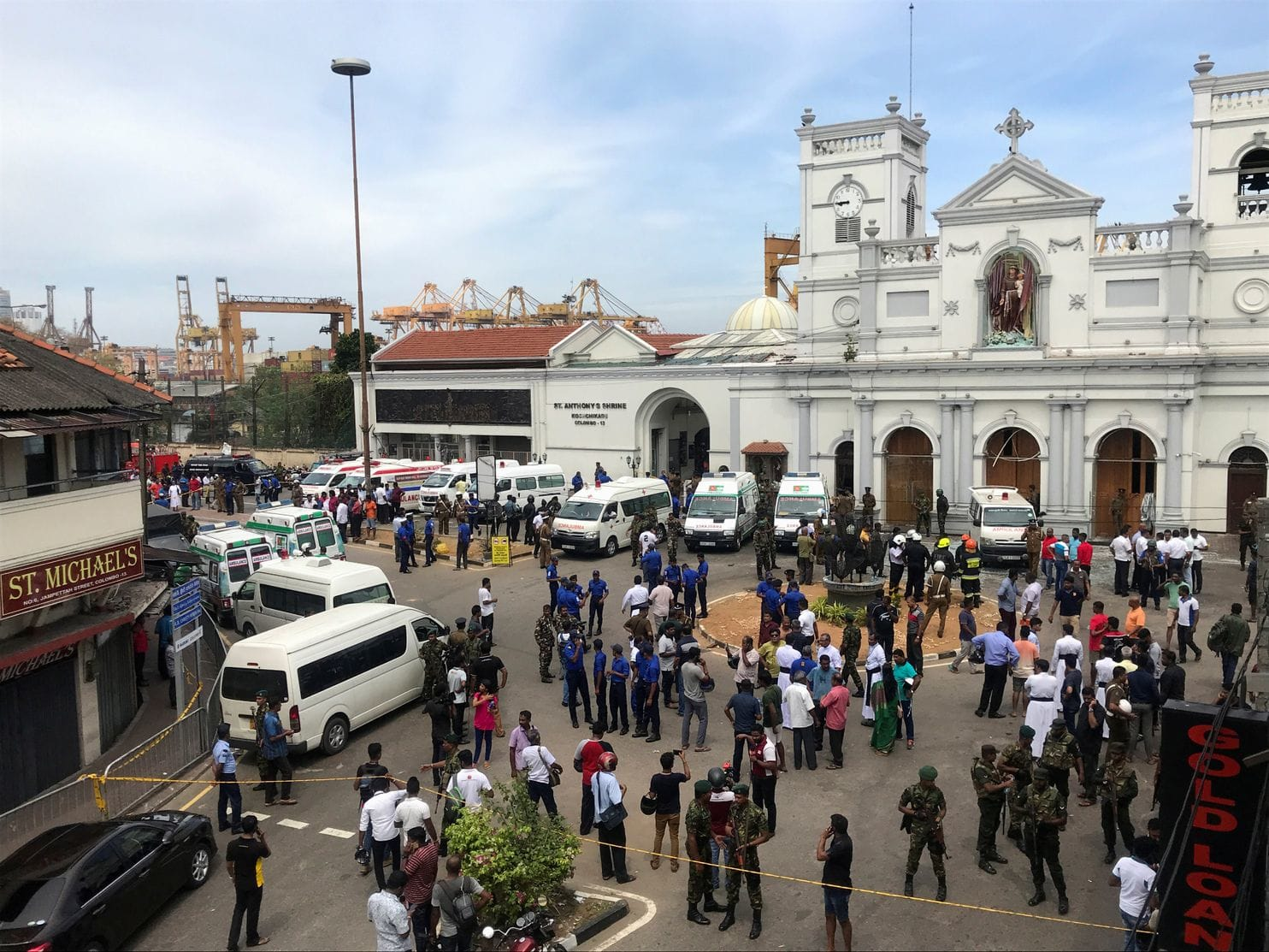 Sri Lankan government blocks social media and imposes curfew following deadly blasts