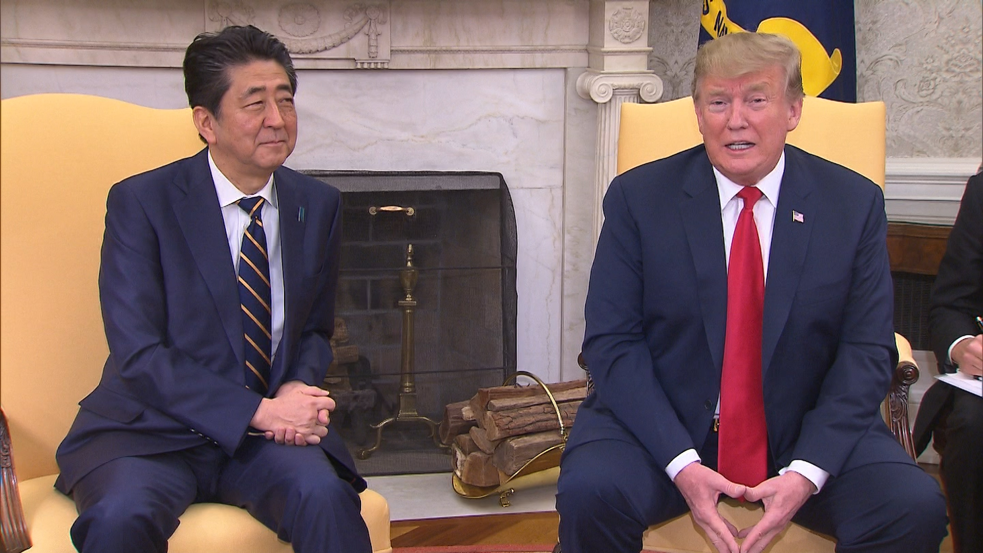 From the emperor to sumo wrestling, Abe harnesses Japan's traditions to impress Trump