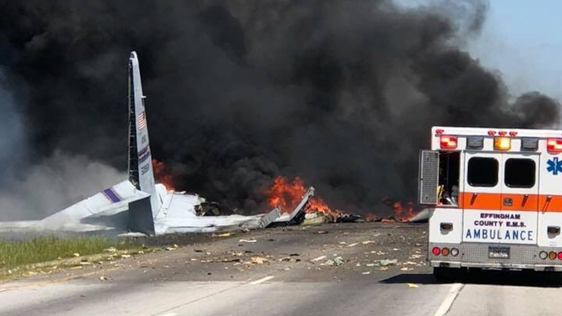 'A C-130 literally just dropped out of the sky': A deadly plane crash stuns drivers in Savannah
