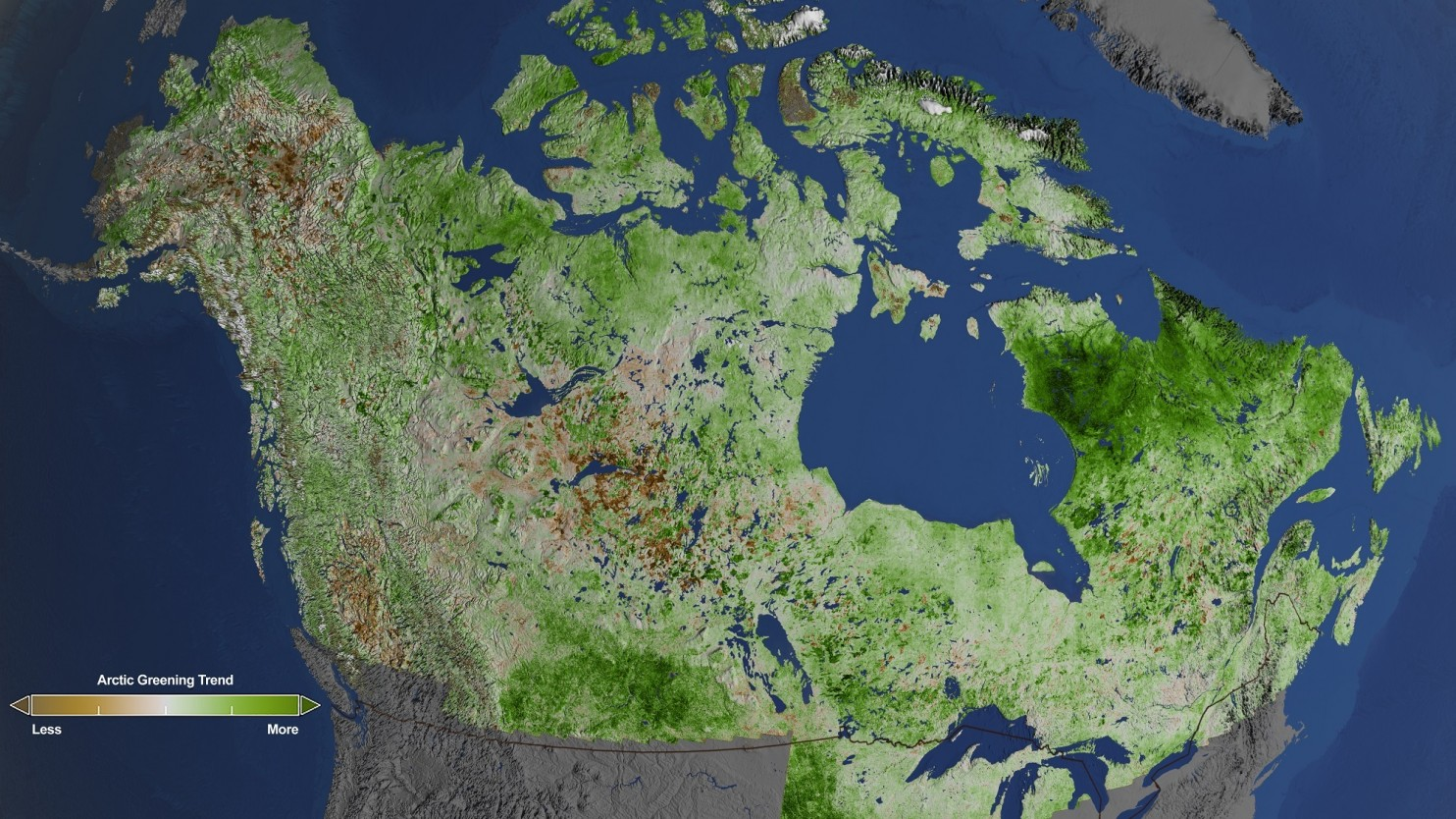 Thanks to climate change, the Arctic is turning green