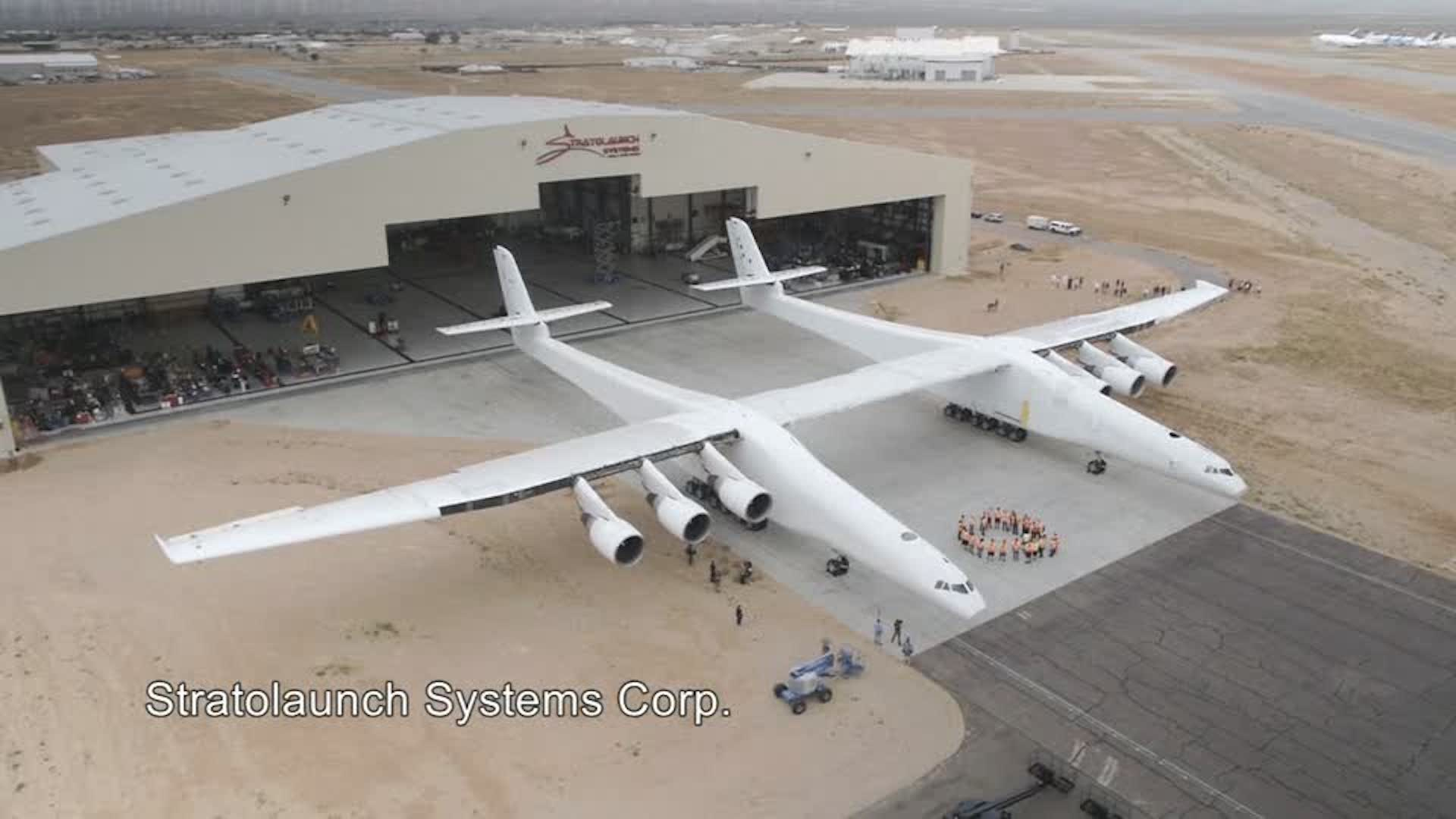 Paul Allen just rolled out the world's largest airplane, and he is ready to take on the rocketmakers