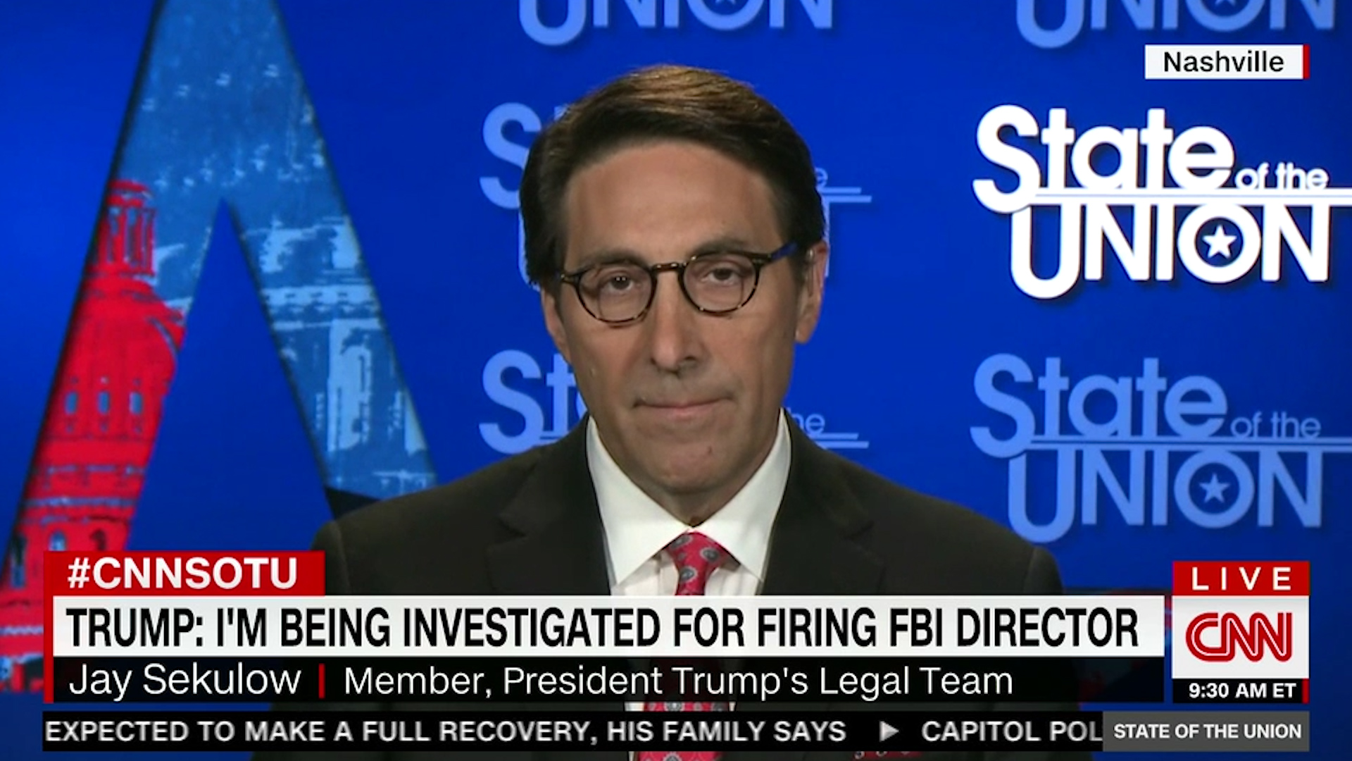 Trump lawyer insists there is no obstruction investigation — but then hedges