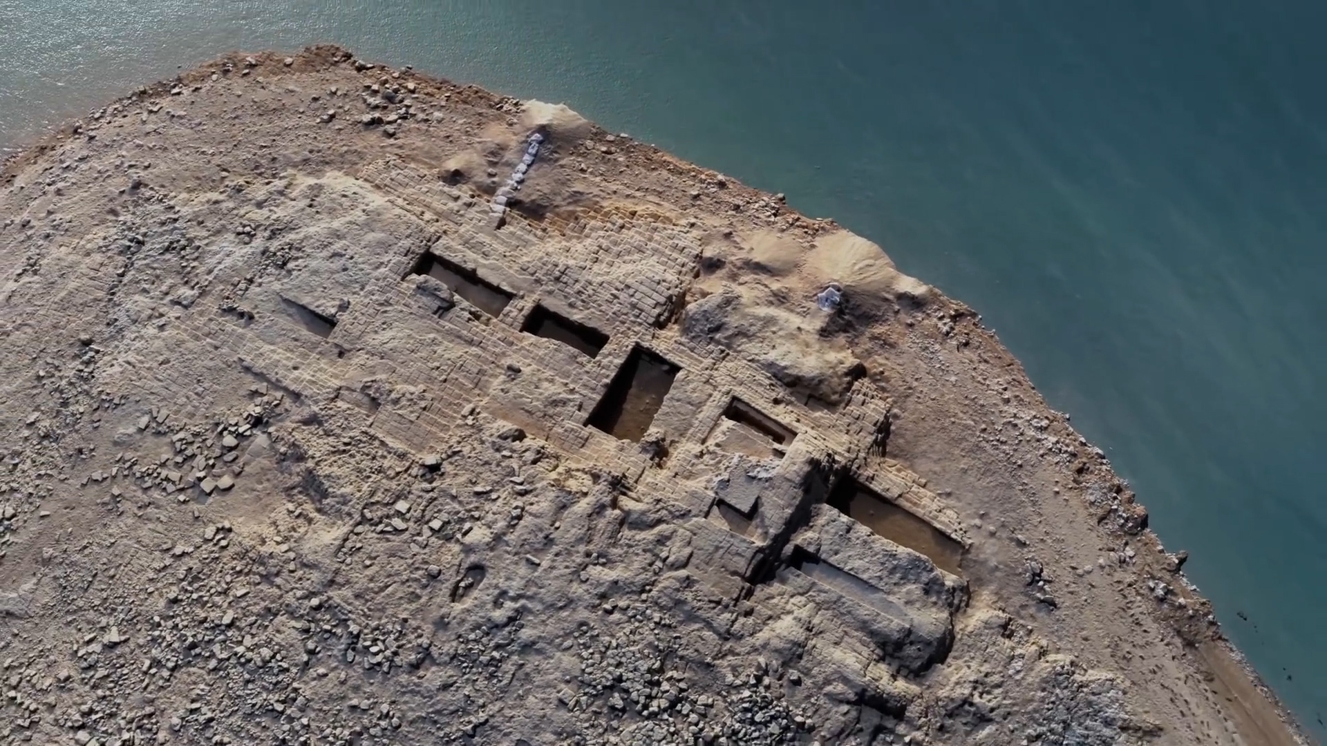 A drought revealed a palace thousands of years old submerged in an Iraq reservoir