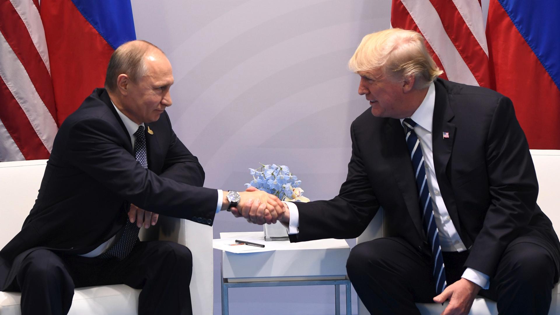 Trumps Many Handshakes From Awkward To Intense The Washington Post