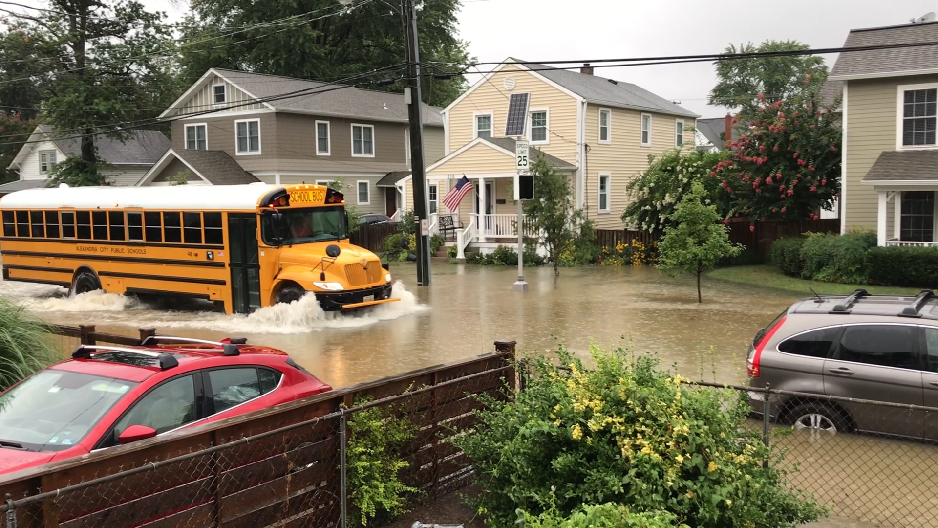 D C  commuters and residents experience flash flooding