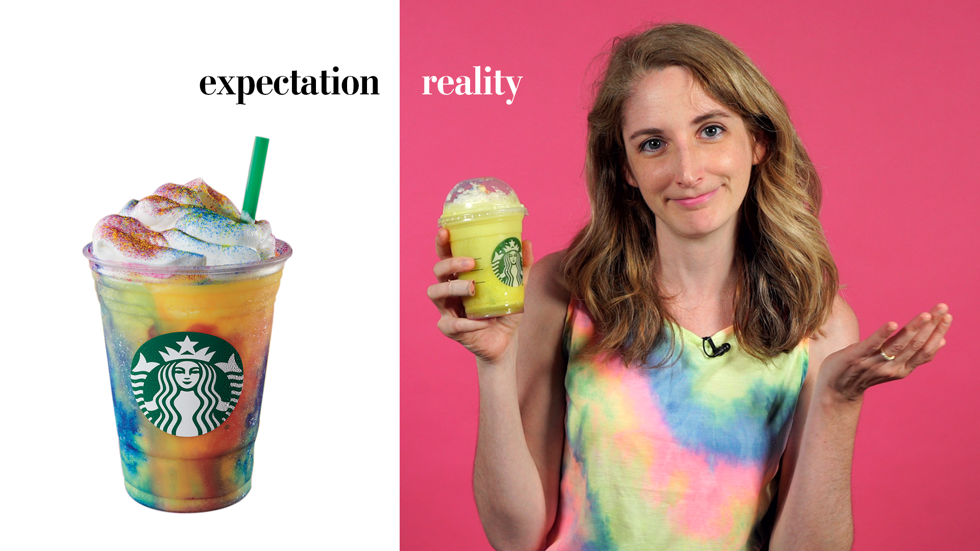 The Starbucks Tie-Dye Frappuccino tastes like Laffy Taffy and disenchantment