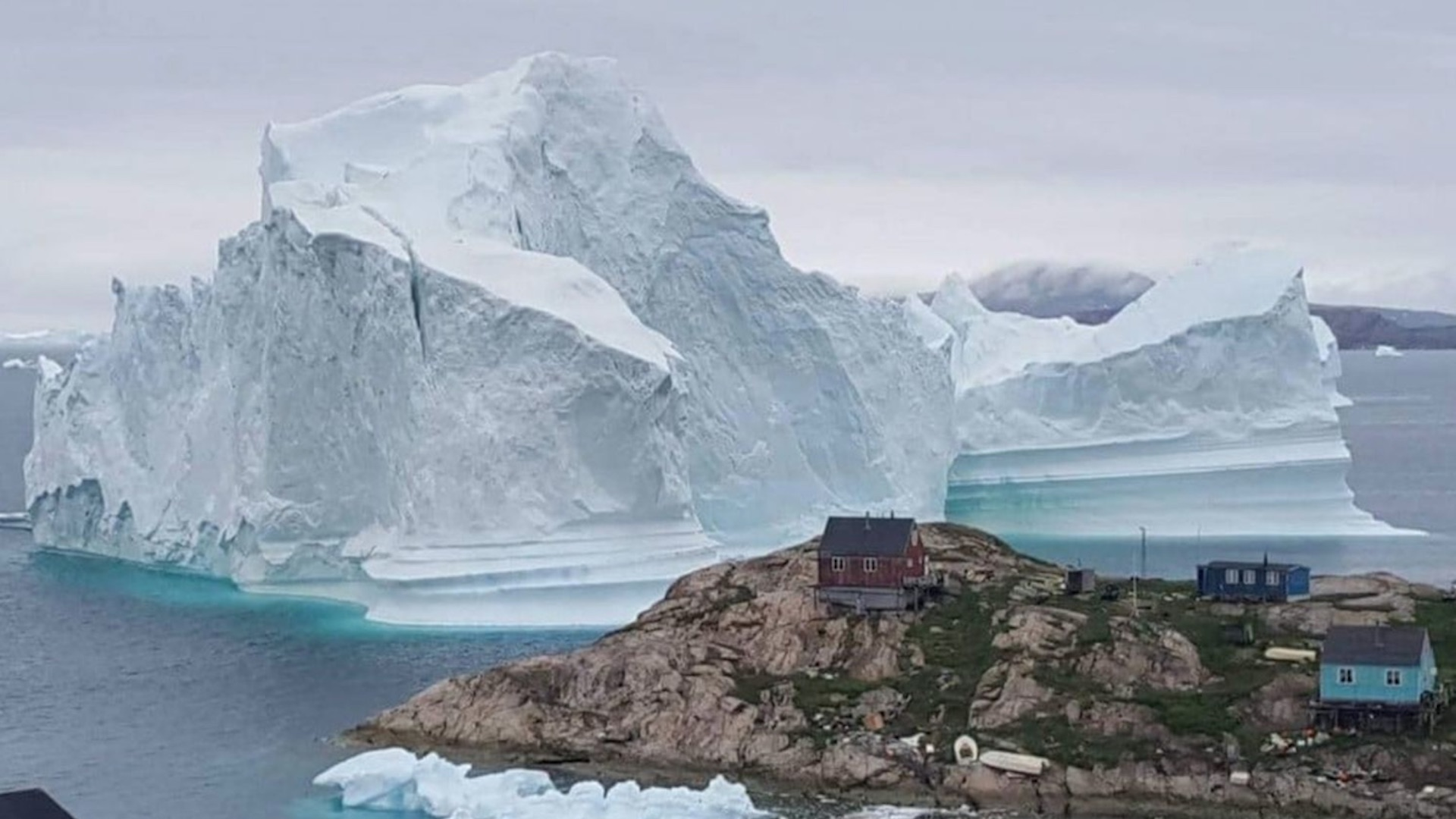 An 11-million-ton iceberg is threatening a tiny village in Greenland