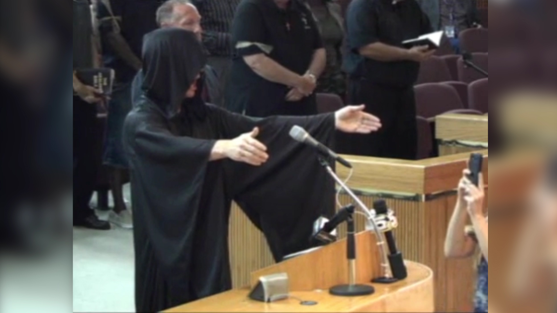 Satanist opens city council meeting, and, well, just watch