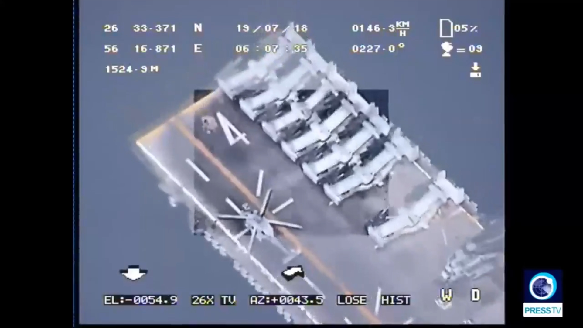 Drones watch every U.S. ship in the Persian Gulf, Iran's navy chief claims