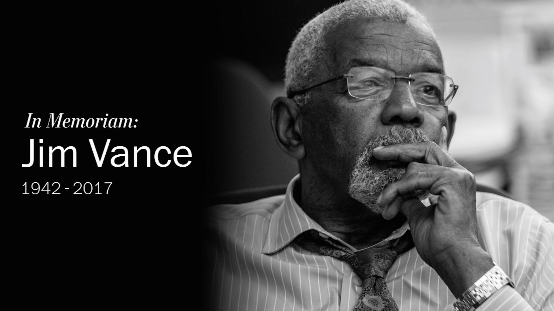 Remembering Jim Vance, D C 's longest-serving local news anchor