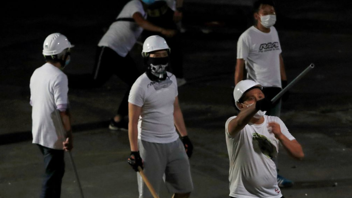 China's backers and 'triad' gangs have a history of common foes. Hong Kong protesters fear they are next.