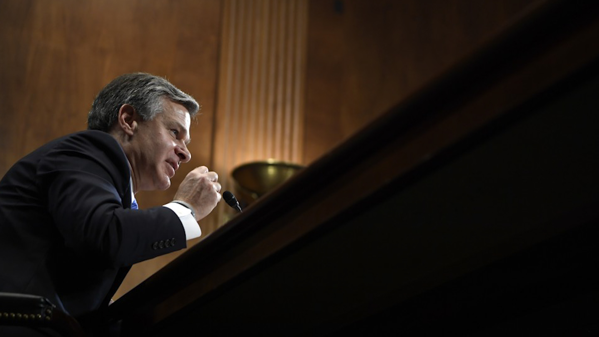 Wray says FBI has recorded about 100 domestic terrorism arrests in fiscal 2019 and many investigations involve white supremacy