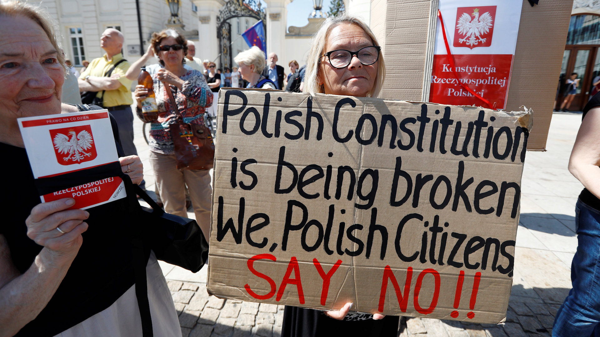 Poland's war on democracy was aided by Trump