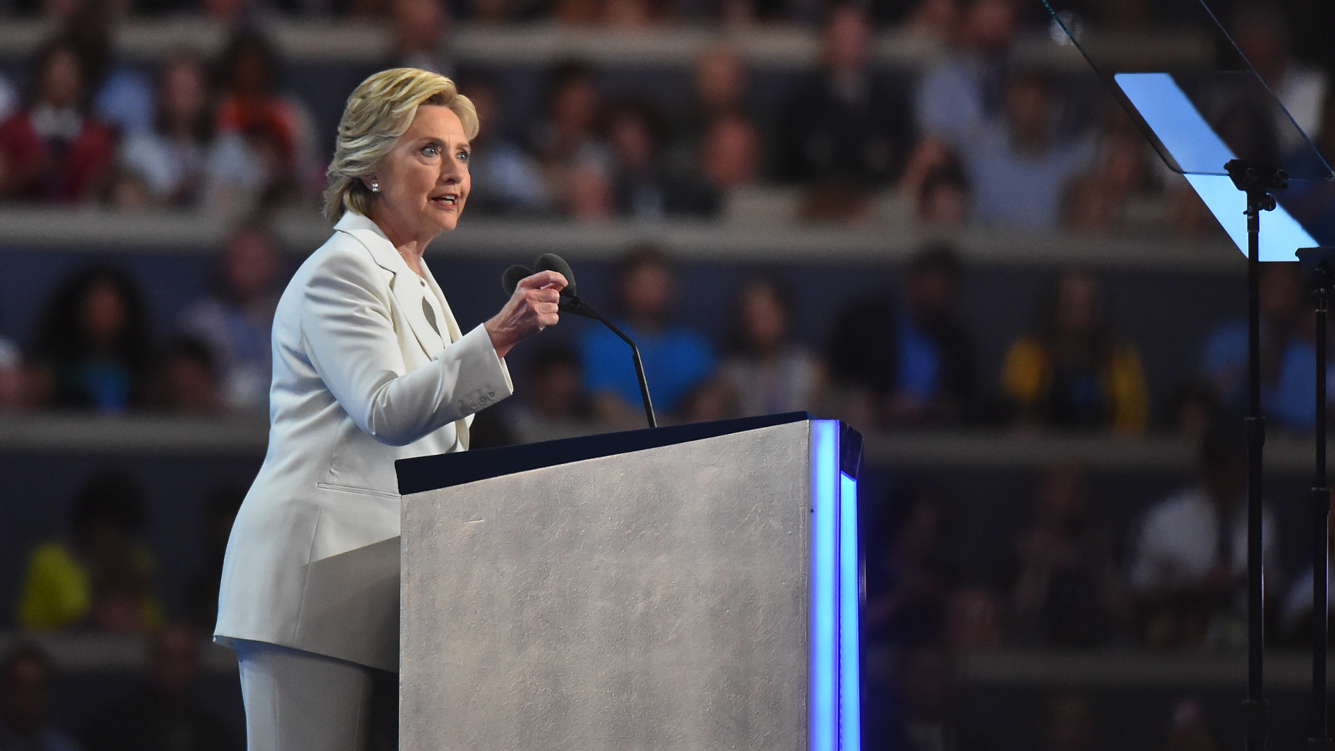 Clinton offers an optimistic vision for the future