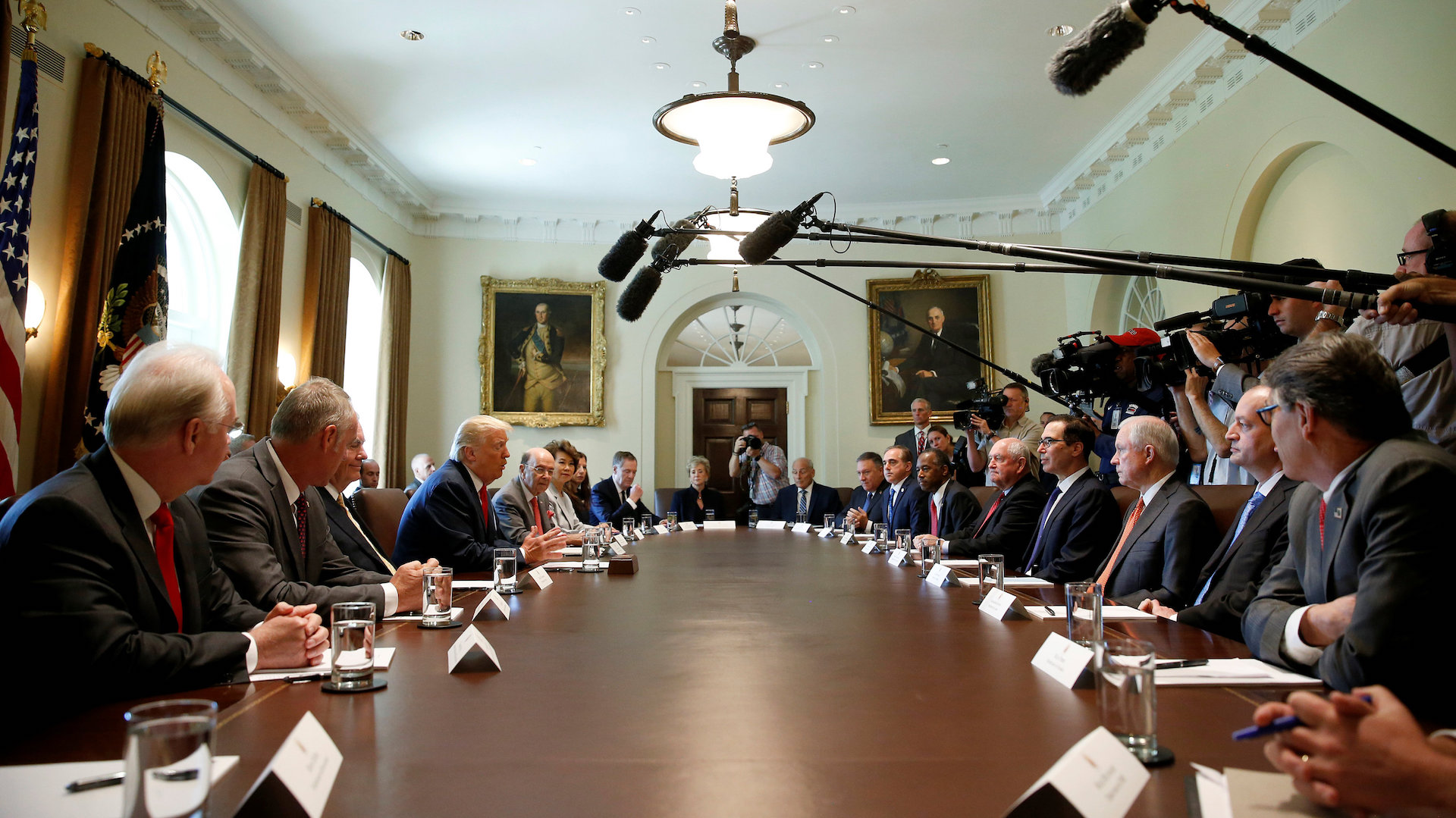 Trump Holds Cabinet Meeting With New Chief Of Staff The Washington - 2017 july 31