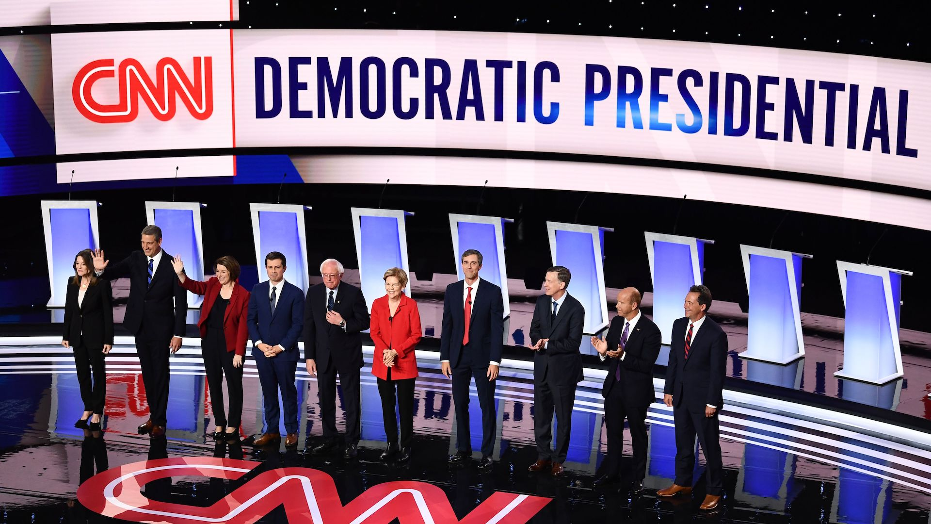 Health care, immigration and Trump dominate the first night of the July  2019 primary debate