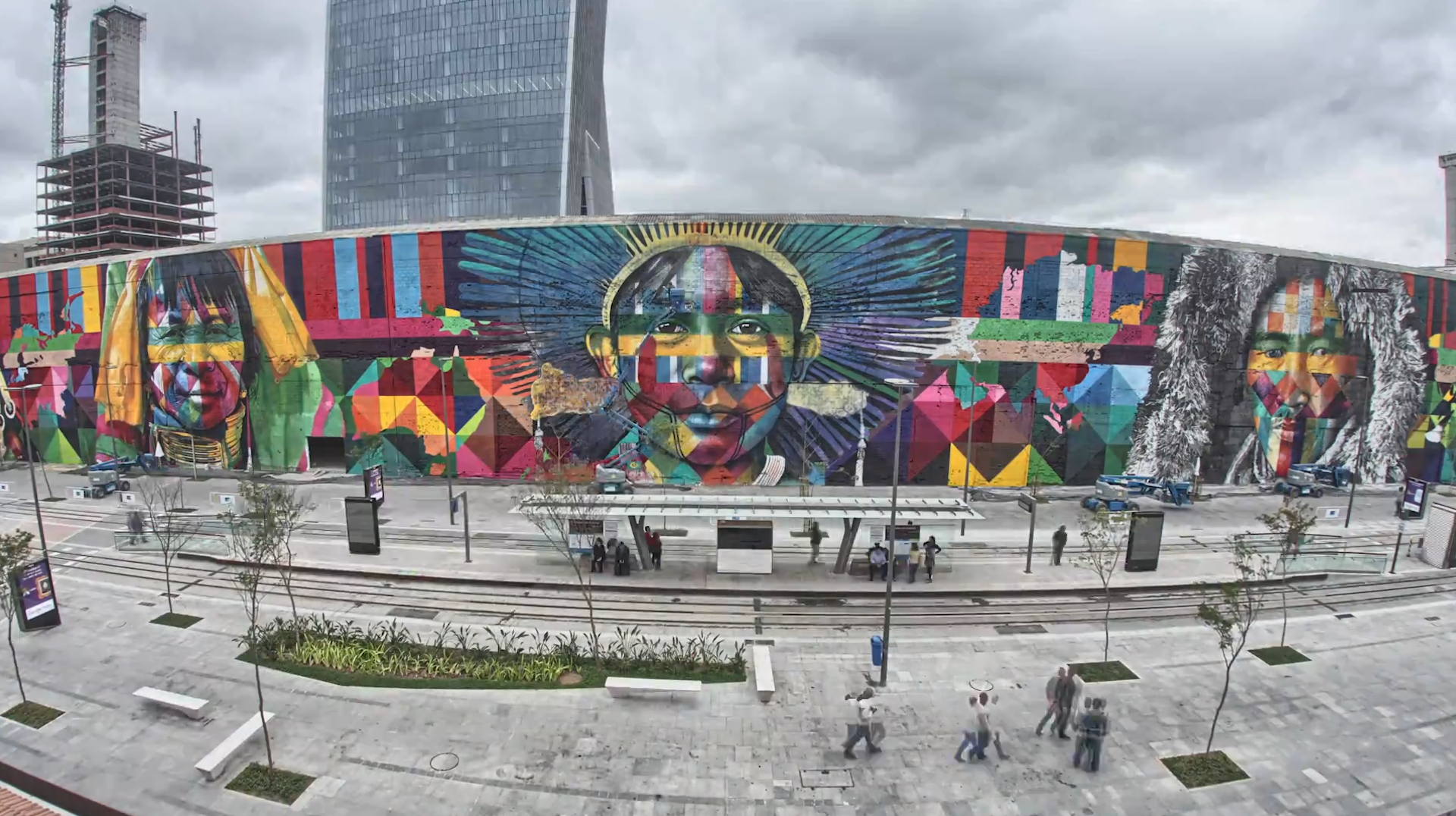 Watch timelapse shows huge street art mural in rio de janeiro the washington post