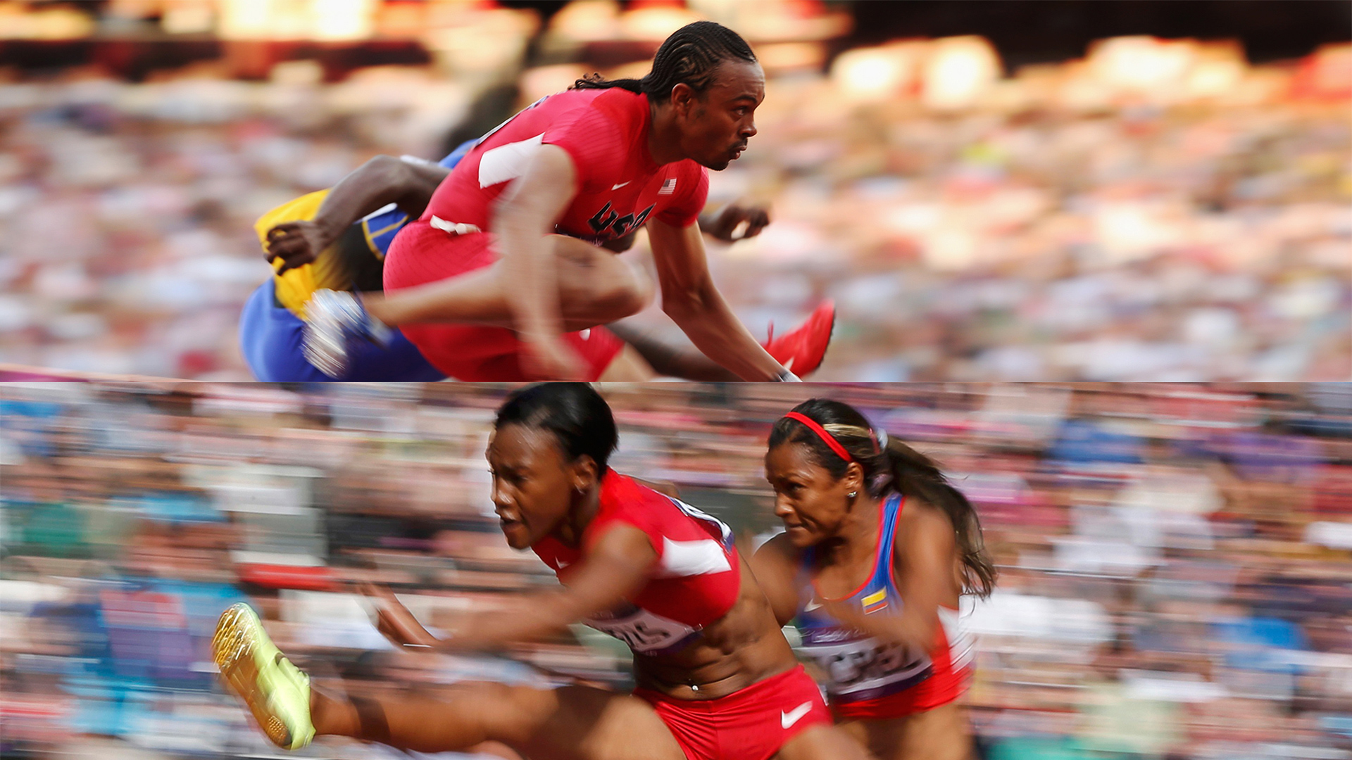 These women are Olympic athletes. Why do they have to look like showgirls?