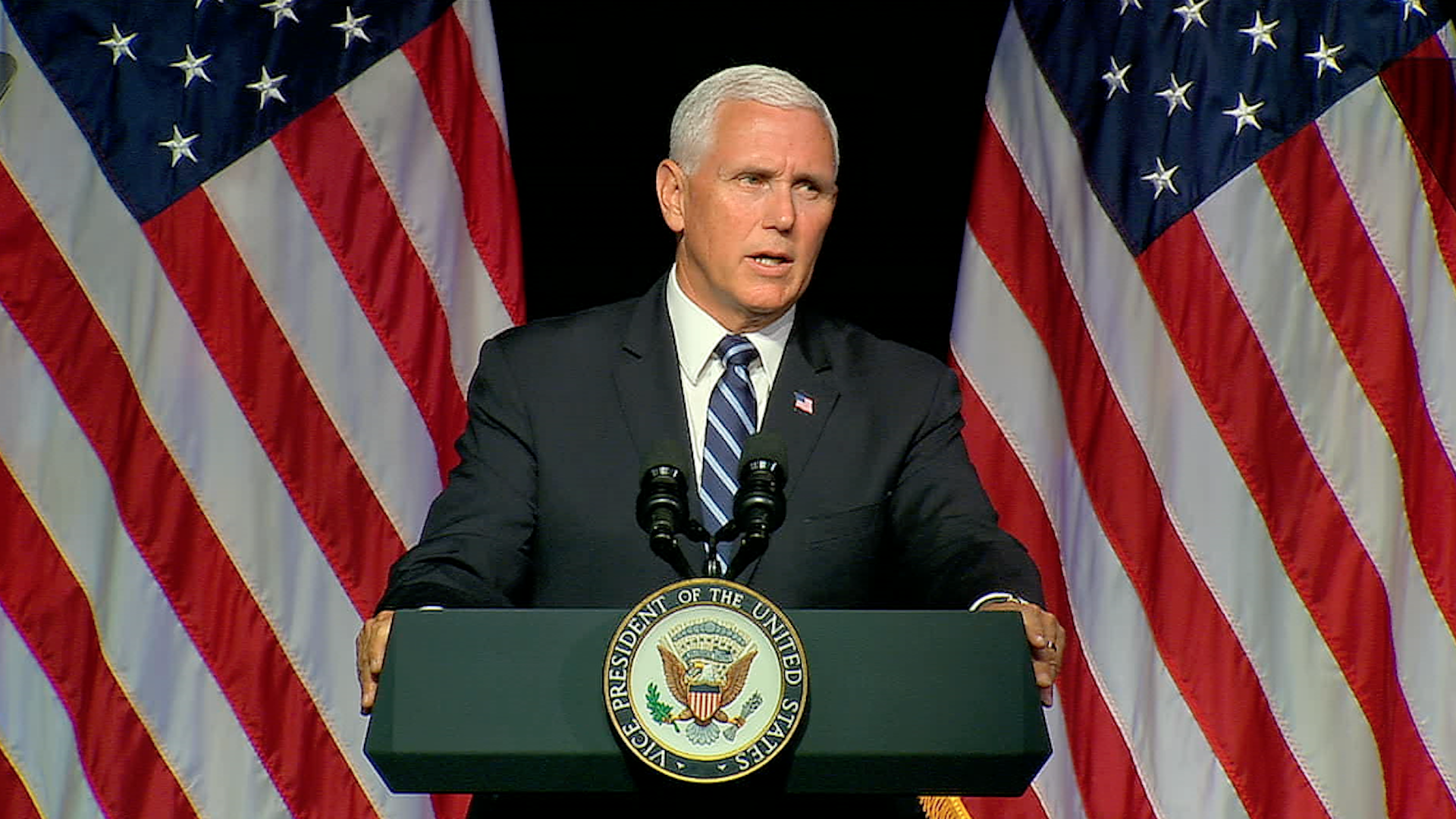 Pence details plan for creation of Space Force in what would be the sixth branch of the military