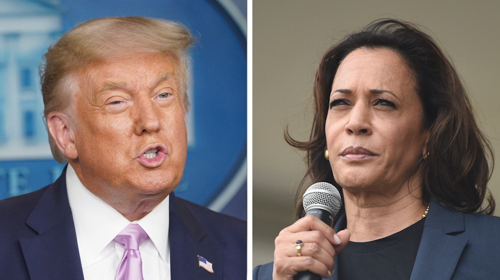 Trump backers' dizzying response to Kamala Harris's selection
