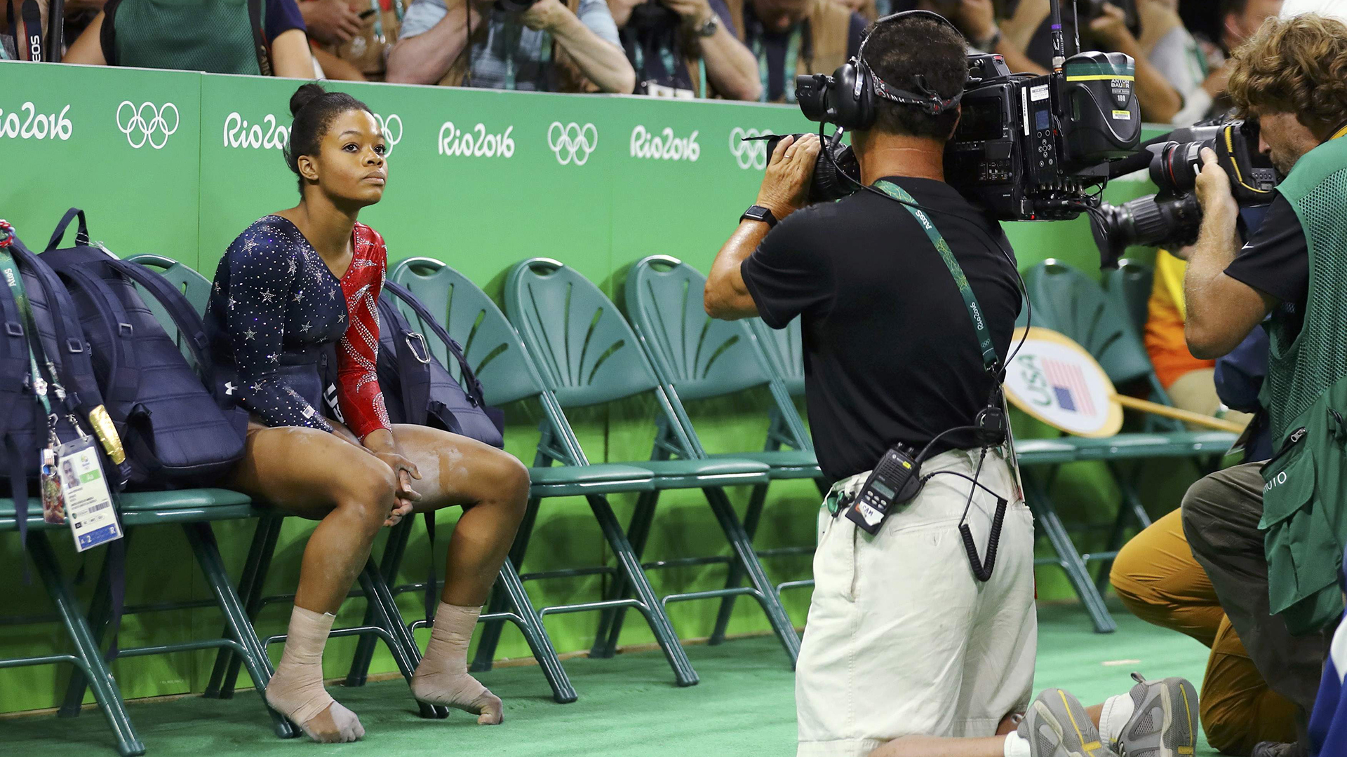 Gabby Douglas, her Olympics over, tearfully responds to social media critics