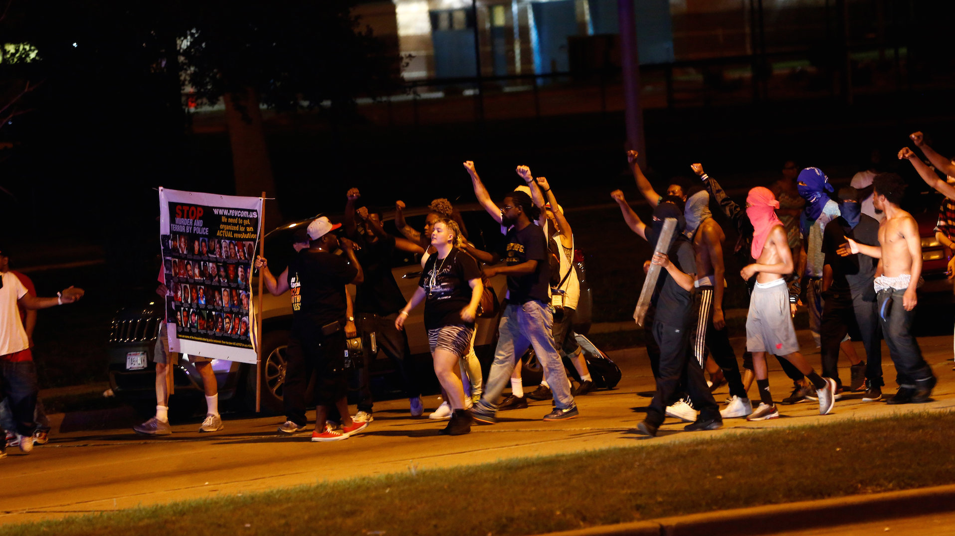 Milwaukee protests turn violent after officer fatally shoots fleeing man