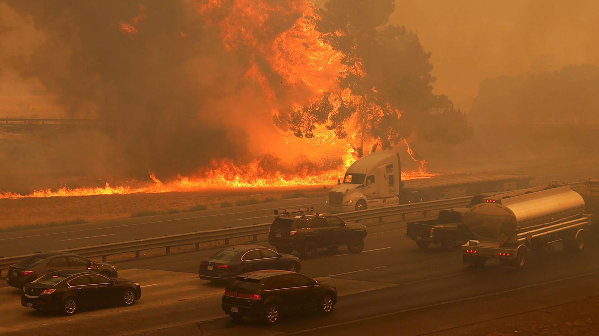 California officials order urgent wildfire evacuations as wind ...