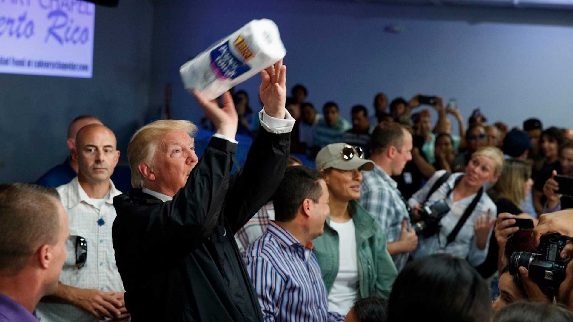 Trump hails 'incredible' response in 'lovely' trip to storm-torn Puerto Rico