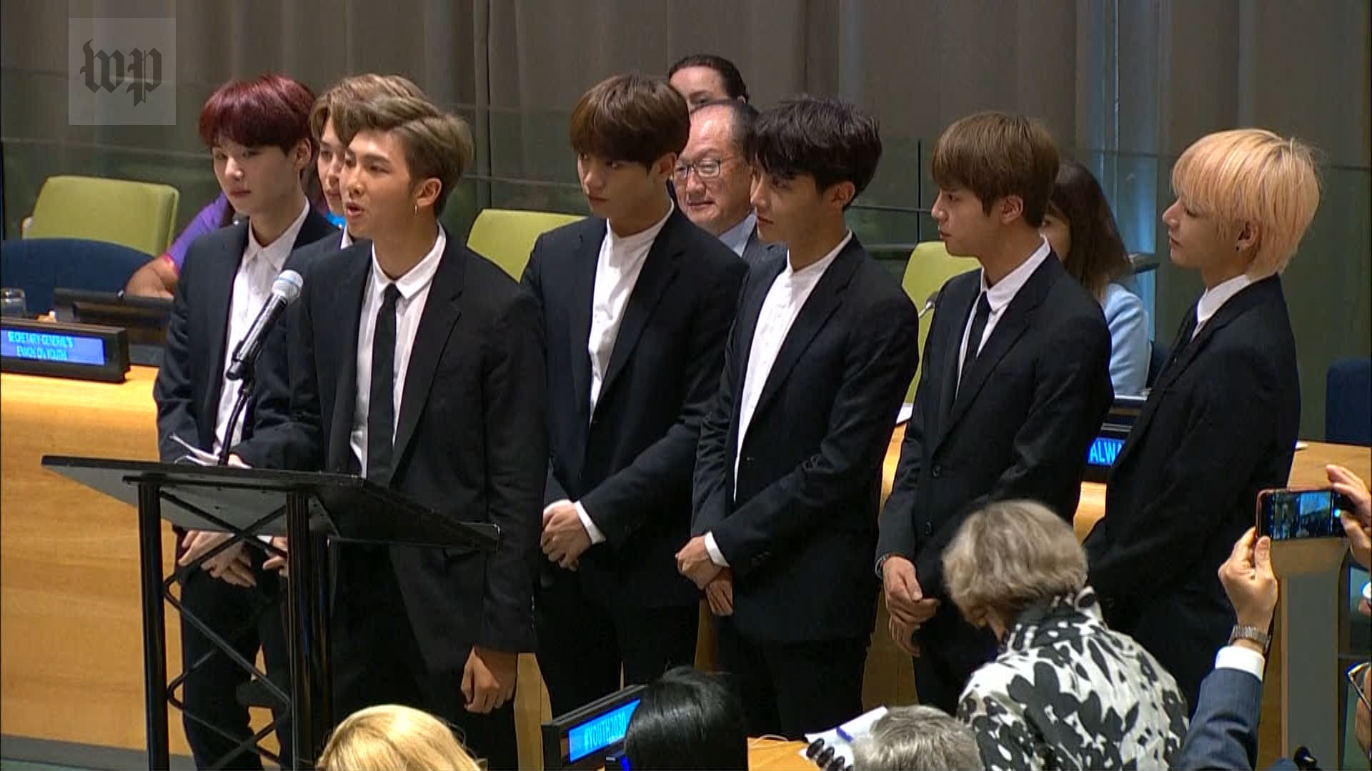BTS, the K-pop stars who spoke at the U N , had this message